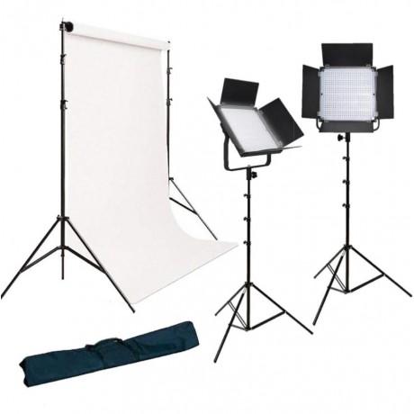 Pixel Kit Vidéo LED K80S avec Support de fond et Artic White 1,35x11m