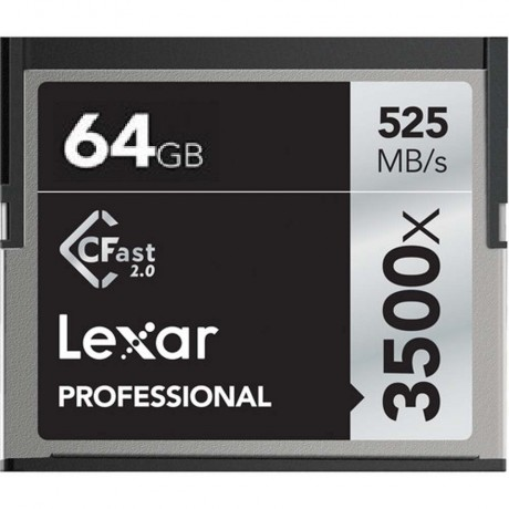Lexar Carte CFAST 64GB 3500X/525MBS