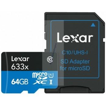 LEXAR MICRO SD XC 64GB...